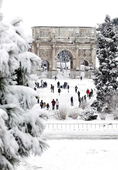 Rome under snow. I've been to rome and i'm going again in June. but my next trip might just have to be in winter!  | At UPS Store #5447 in Macon, GA we do more than just shipping! We specialize in document services (banners, wedding funeral programs, flyers), mailbox services, notary services, freight, etc. Call (478) 781-6066 or visit www.theupsstorelocal.com/5447 for more info!