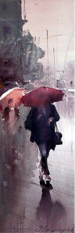 Dusan Djukaric, Walk on the Rain on ArtStack #dusan-djukaric #art
