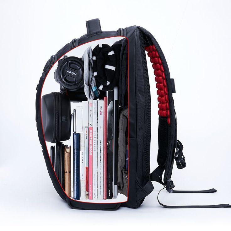 Rucksack große Kapazität 40L Wasserdichter Reiserucksack Damen Herren Daypack mit 18 zoll Laptopfach für Reisen, Outdoor Sport, Camping und Campus