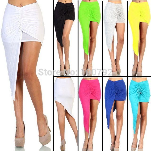 8 Color asimétrico drapeado falda vendaje verano mujeres nuevos 2016 Vintage partido geométrica de algodón falda larga Maxi