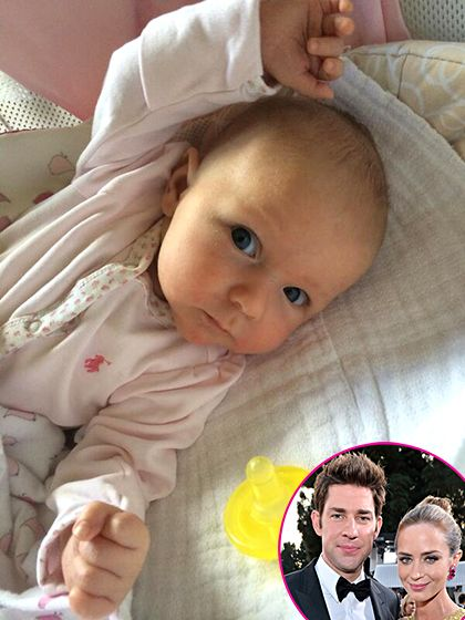 "Hazel Krasinski Hello, Hazel! Emily Blunt gave birth and welcomed her first child with John Krasinski on Feb. 16. ""Pics of kids should only come direct from parents,"" the Office alum captioned a picture of his little girl on May 13. ""So I'm thrilled to introduce you guys to Hazel!!!"" Blunt gushed that Hazel was ""perfect"" and Krasinski was the ""greatest dad"" the following day during The Ellen DeGeneres Show.   Read more…"