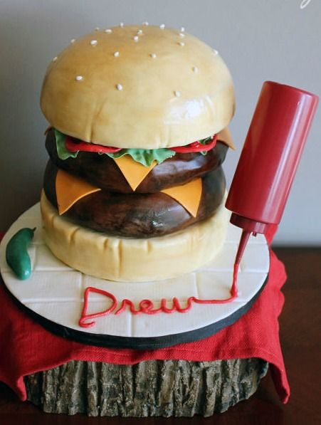Double Cheeseburger Cake