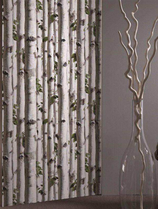 birch tree wallpaper traditional - photo #12