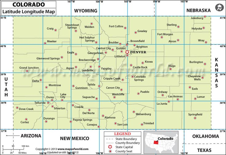 Colorado Latitude And Longitude Map Games Maps Geography - Usa map with latitude and longitude