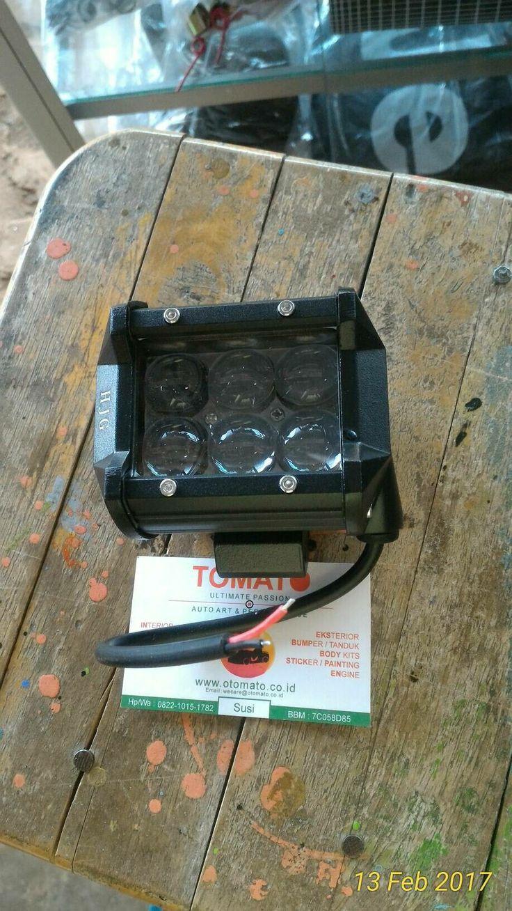 jual lampu tembak led 6 titik -18 watt ,4 dimensi, fokus -bisa utk semua mobil -waterprof -harga satuan,tomato wtc 082210151782