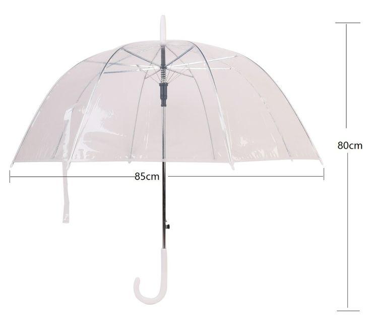 прозрачный зонт Купол Прозрачный Гриб Зонтик Солнечный Rainny зонт женский Зонтик Полуавтоматическая Длинной Ручкой Зонты PG купить на AliExpress
