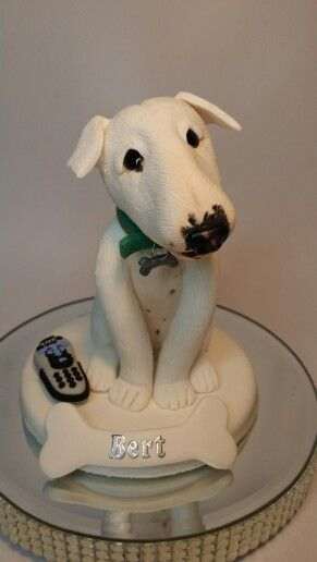 English bull terrier in polymer clay - Cotswold Characters