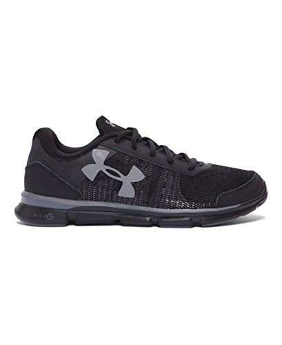 Under Armour Big Boys' Grade School UA Micro G Speed Swift Running Shoes 4.5 Black