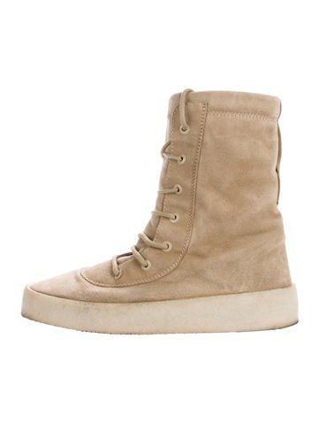 #The RealReal - #Yeezy Yeezy Season 2 Suede Crepe Boots - AdoreWe.com