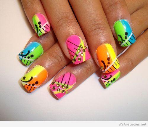 colorful nail art #nails