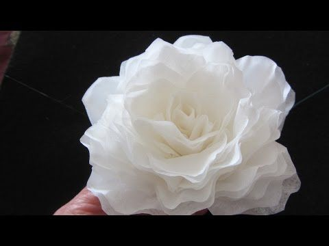 ▶ How To Make This Elegant Coffee Filter Rose QUICK - YouTube