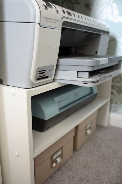 Using A Shoe Rack To Organize A Printer External Hard