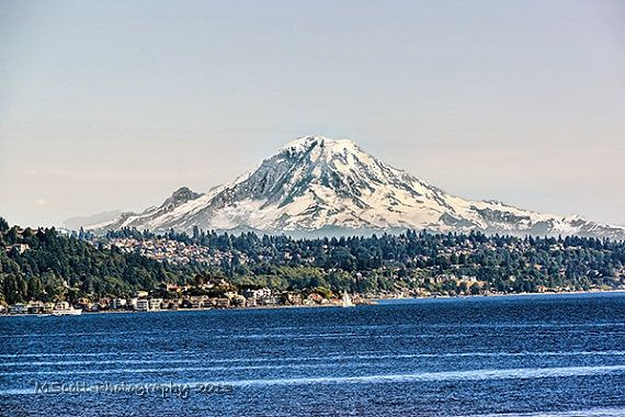 sSALE, Mount Ranier Photograph, Seattle, Mountain Landscape, Volcano, Pacific Northwest Travel Photography, Snow Cap, Home and Office Decor