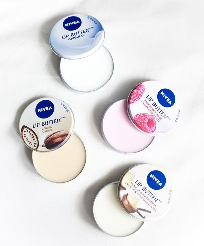 Nivea Lip Butter- I have the Raspberry and Cocoa, and they are AMAZING.