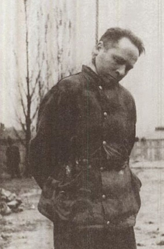 [Photo] Rudolf Höss on the gallows, Auschwitz Concentration Camp, Poland, 16 Apr…