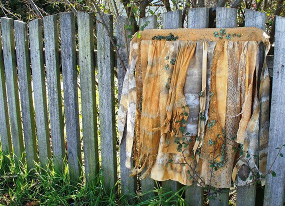 apron for a driad wallhanging by gonerustic on Etsy