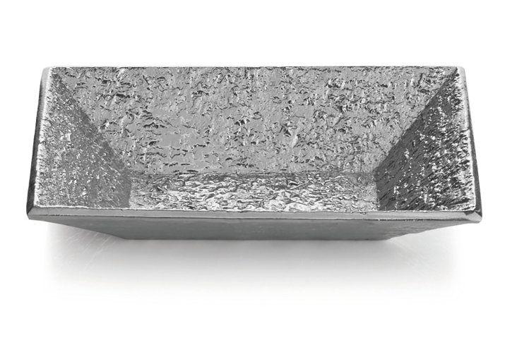 Block Dip Bowl, Silver
