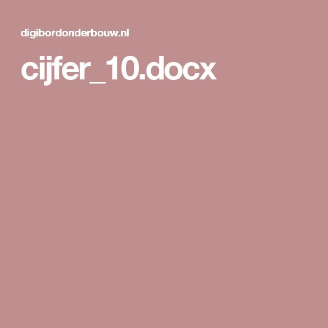 cijfer_10.docx