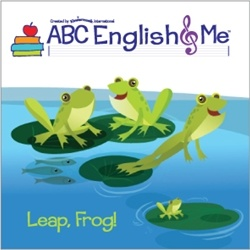 Swinging monkeys, stomping elephants. The children revisit old animal friends (pigs and monkeys) and   meet new ones (frogs and elephants). The children stomp, jump, leap, hop, and swing with the animals, and learn new colors, body parts, and animal sounds as they do.  www.abcenglishandme.com