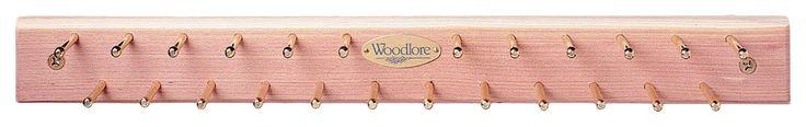 24 Hook Wooden Tie Rack