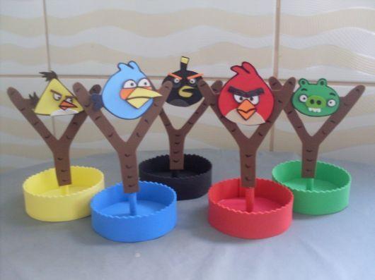 Centro de mesa de Angry Birds en goma eva - http://xn--manualidadesparacumpleaos-voc.com/centro-de-mesa-de-angry-birds-en-goma-eva/