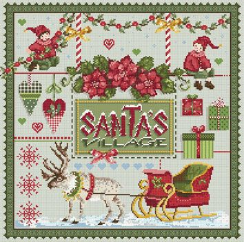 Santa's Village From Madame La F�e - Cross Stitch Charts - Embroidery - Casa Cenina