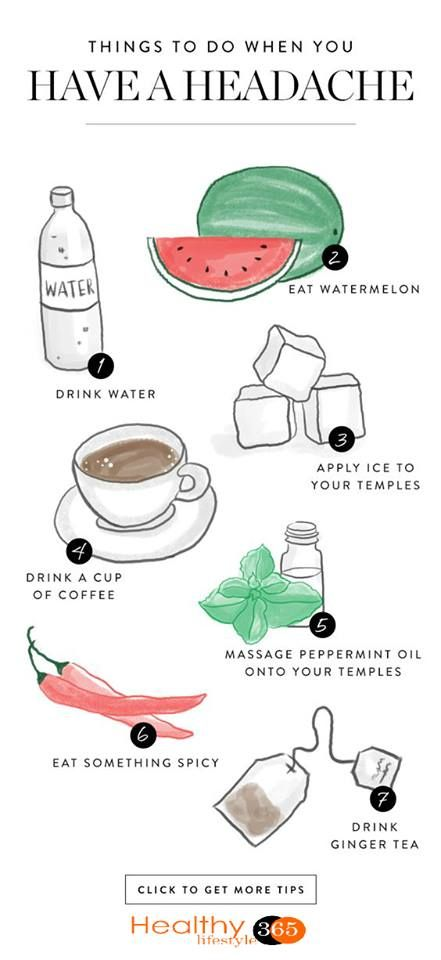 15 Things to Do When You Have the Worst Headache Ever.....
