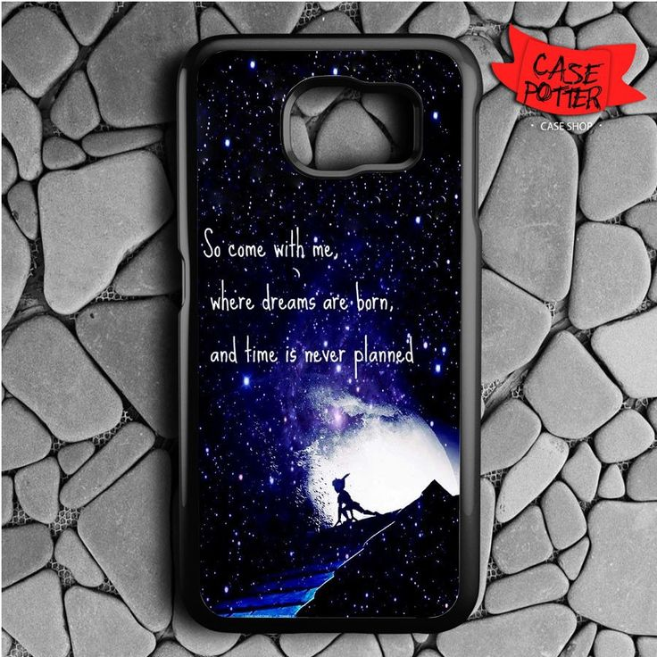 Peter Pan Qoutes Samsung Galaxy S6 Black Case
