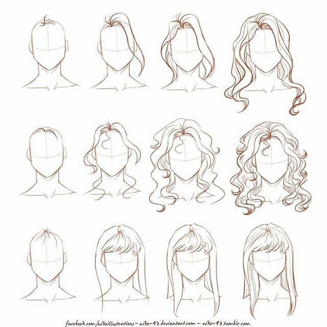 How i draw long hair