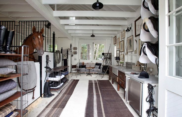 www.pegasebuzz.com | Windsor Smith decor | Equestrian lifestyle : stables in the house