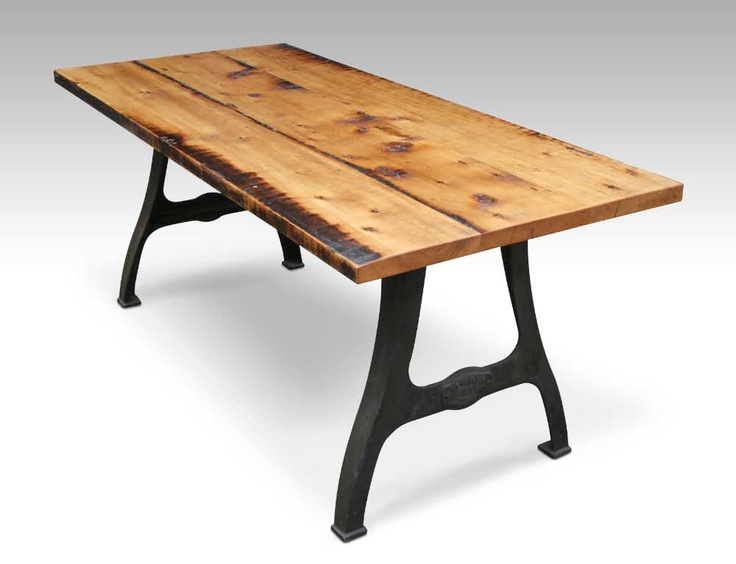 Urban farm table with industrial machine legs by Olde Good Things $1 750 A