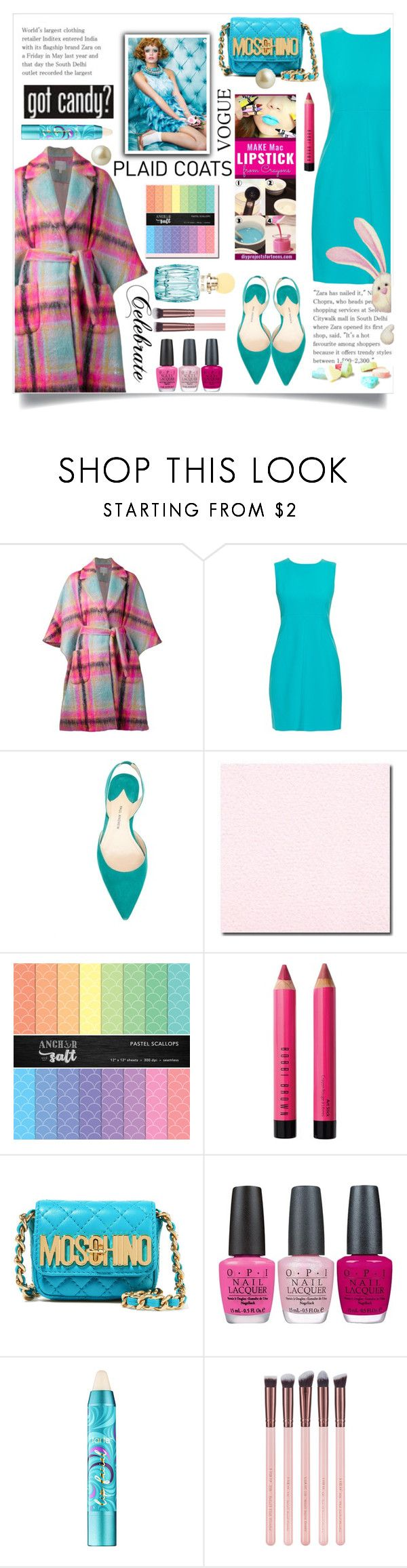 """""""Candy"""" by wuteringheights ❤ liked on Polyvore featuring Delpozo, Diane Von Furstenberg, Paul Andrew, Bobbi Brown Cosmetics, Moschino, OPI, tarte and Carolee"""