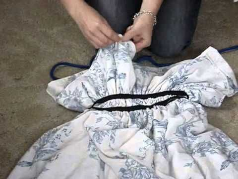 How to Turn an Old Bed Sheet Into a Beautiful Maxi Dress 3