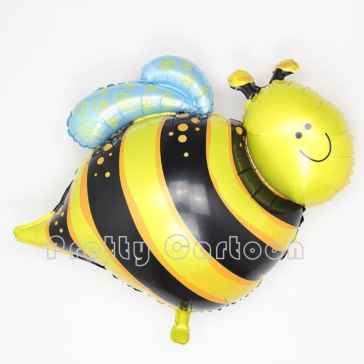 Grote 80*66 cm 10 stks/partij tyranids bijen ballon bee pet dier ballons bruiloft verjaardagsfeestje decoratie bee folie globos(China (Mainland))