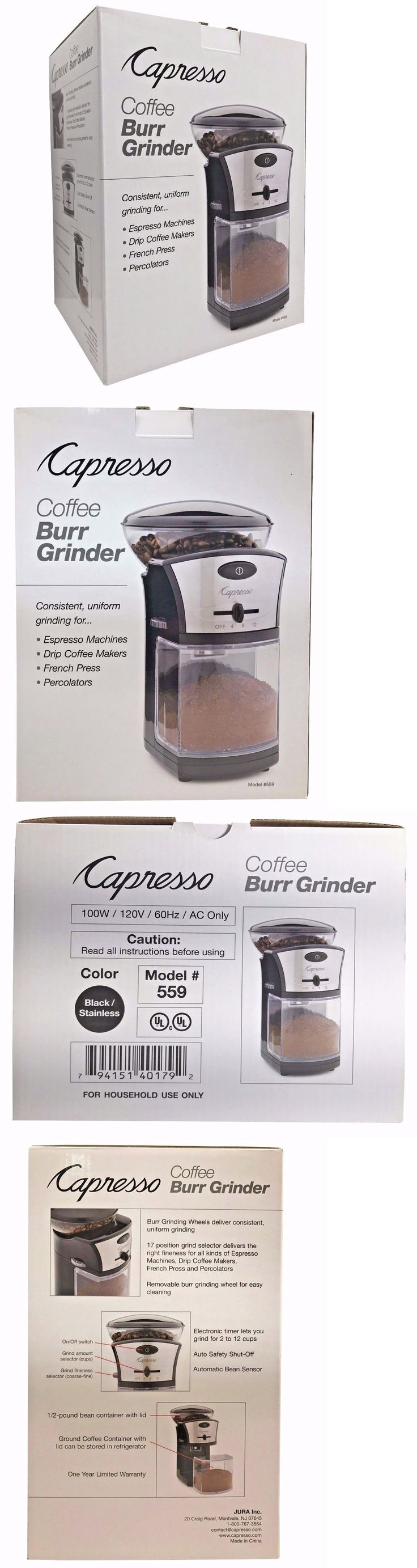 Coffee Grinders 32882: Capresso Coffee Burr Grinder 17 Grind Refinements 2-12 Cups Model #559 -> BUY IT NOW ONLY: $46.2 on eBay!