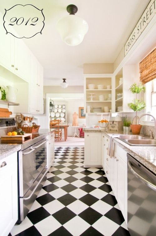 2500 best decorating ideas images on pinterest sweet for Country galley kitchen designs