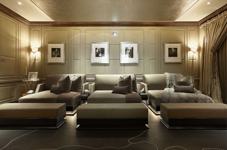 fantastic cinema room! photo by Andrew Twort Photography