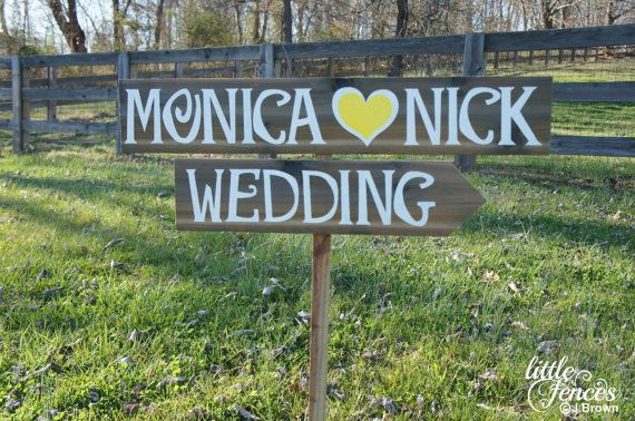 Personalized Wedding Sign Wooden Wedding by CountryWeddingSigns