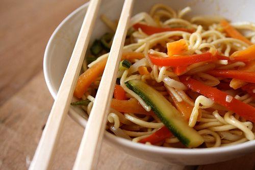 Tagliolini cinesi alle verdure | #veganize