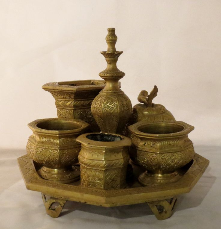Brass Betel Nut Set (tepak sireh), East Java - circa 1900