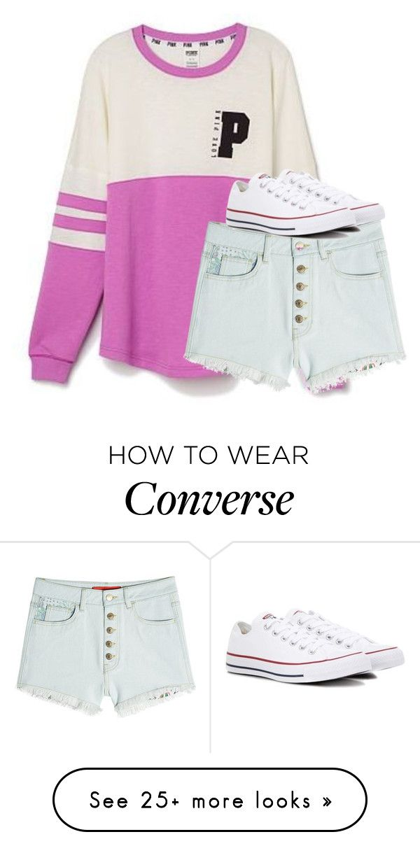 """""""Untitled #2639"""" by laurenatria11 on Polyvore featuring Victoria's Secret and Converse"""