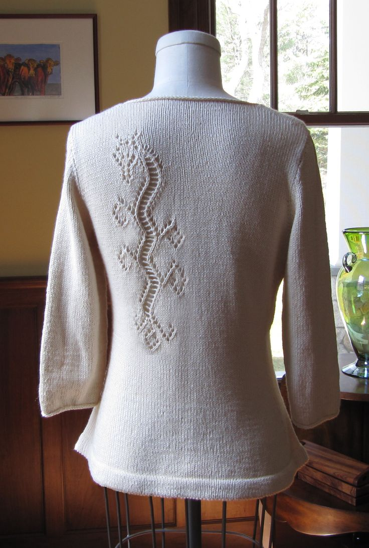 Dragon Lace Pullover available on Ravelry - a tattoo for your sweater