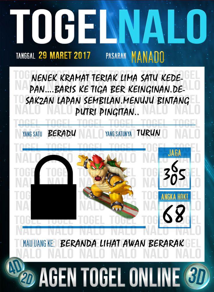 Kode Jitu 6D Togel Wap Online TogelNalo Manado 29 Maret 2017