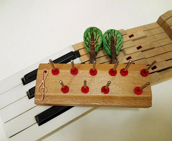 Piano jewelry holder wall jewelry rack Piano parts rings