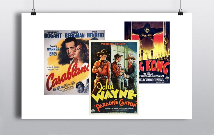 Selection of Old Movie Posters, contact us for further information http://www.prophouse.ie/portfolio/old-movie-posters/