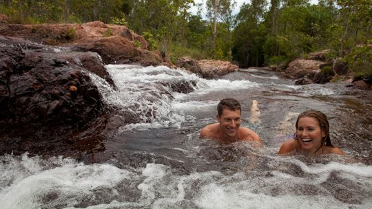 Swimming, Buley Rockholes, Litchfield National Park, Darwin, Northern Territory, Australia