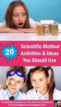 Visit this classroom teacher blog post for elementary science activities, projects and ideas for teaching the scientific method to students in 3rd, 4th, 5th and 5th grade. You will find an online quiz, an interactive flash presentation lesson, a lemonade experiment, a cartoon for kids about variables and free printable task cards for SCOOT games in centers or stations. You will also find paid interactive notebook foldable craft activities (craftiviites).
