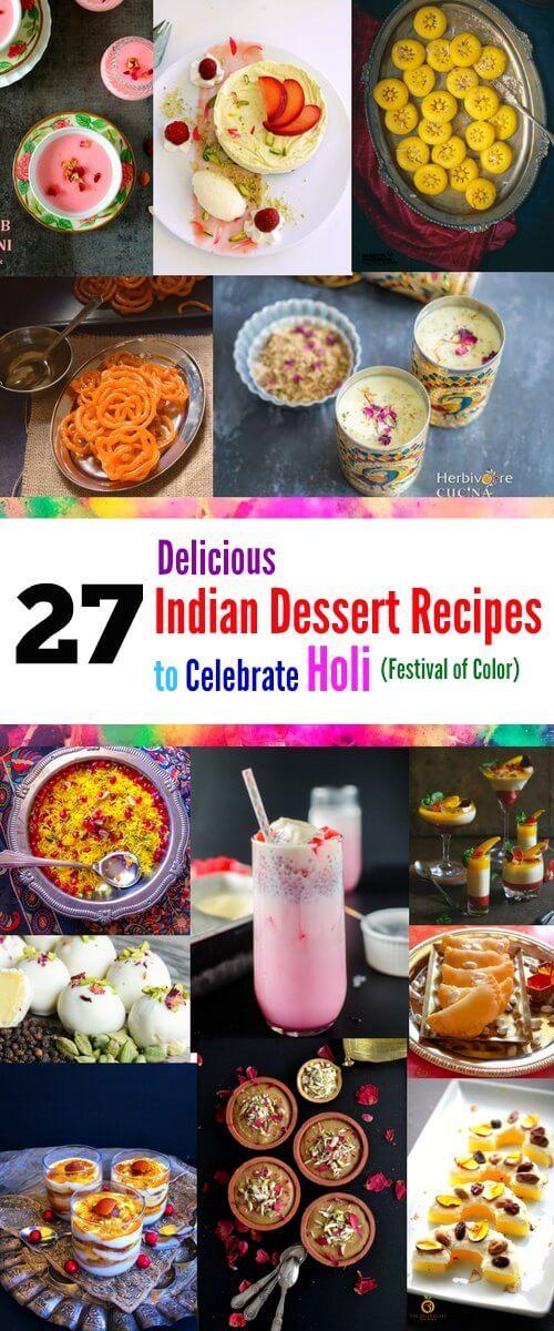 27 Delicious Indian Dessert Recipes to Celebrate Holi: #holi #indian #recipes #peda #rabri