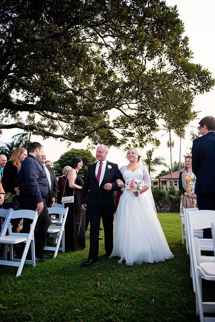 A very proud Dad & a gorgeous Bride!! Pic Richard Windeyer. Byron Bay Wedding Celebrant.