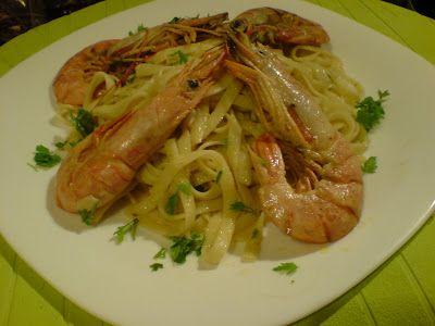 Λιγκουίνι με γαρίδες! πολύ νόστιμο πιάτο ! ~ ΜΑΓΕΙΡΙΚΗ ΚΑΙ ΣΥΝΤΑΓΕΣ